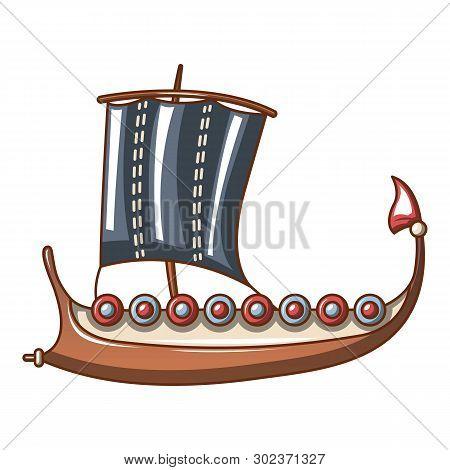 Galleon Icon. Cartoon Illustration Of Galleon Icon For Web