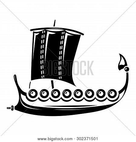 Galleon Icon. Simple Illustration Of Galleon Icon For Web