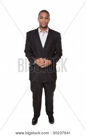 Confident African American Businessman Looking At Camera