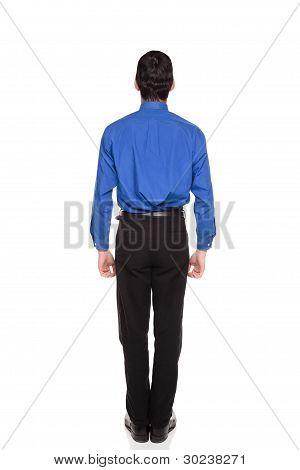 Rear View Of Caucasian Businessman