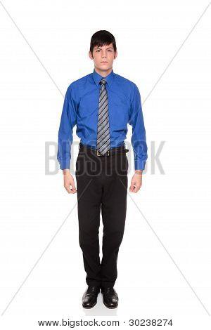 Confident Caucasian Businessman Standing Looking At Camera