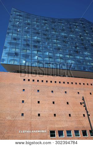 Hamburg, Germany - May 15, 2019: Elbphilharmonie - The New Landmark Of Hamburg - In Hafencity Distri