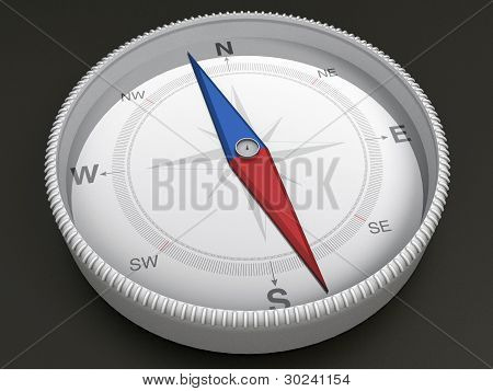 Compass on dark background - 3d Object Series poster