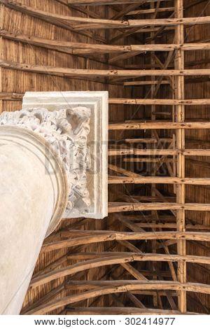 Notre Dame De Paris Fire: Gothic Frame And Colone