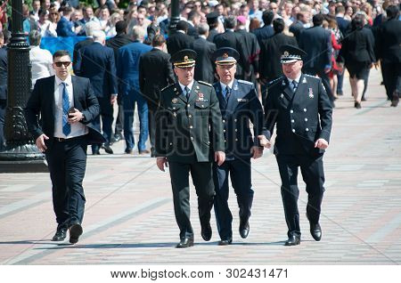 Kyiv, Ukraine 20 May 2019. The Leadership Of The Security Agencies Of Ukraine Leaves The Verkhovna R
