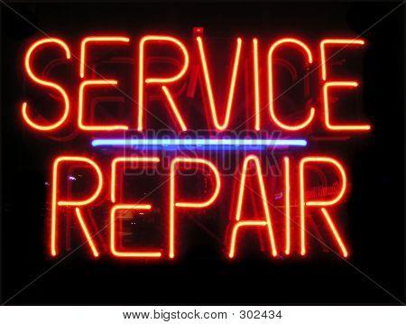 Service Repair Neon Sign