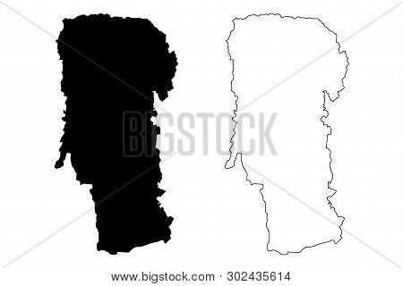 Arges County (administrative Divisions Of Romania, Sud - Muntenia Development Region) Map Vector Ill