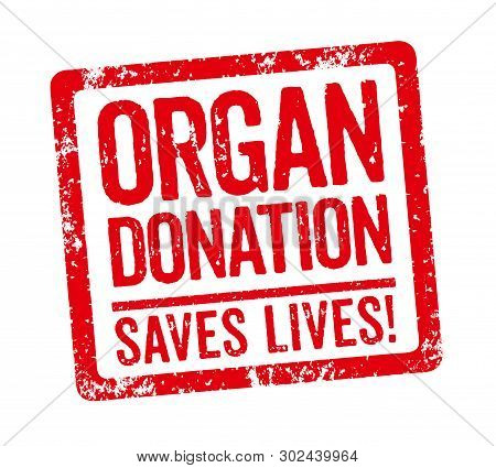 A Red Stamp On A White Background - Organ Donation