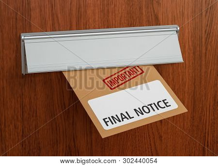 A Letter With The Label Final Notice