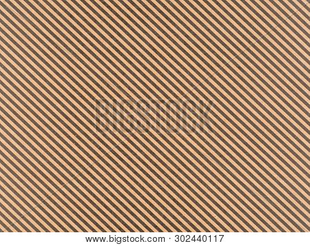 Brown Craft Paper With A Diagonal Black Stripes
