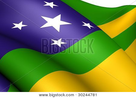 Flag of Sergipe Brazil. Close Up. Front View. poster