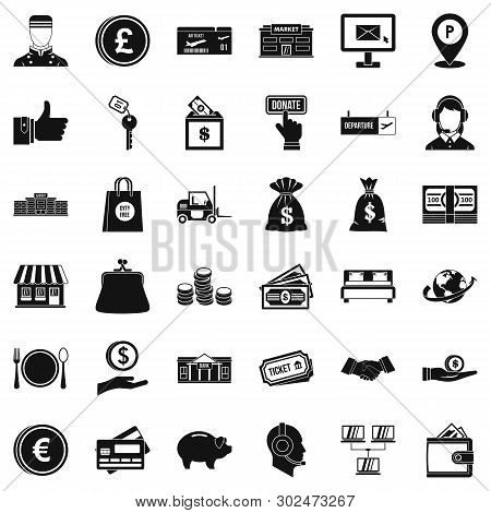 Financial Incentives Icons Set. Simple Set Of 36 Financial Incentives Icons For Web Isolated On Whit