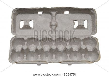Paper Egg Carton Isolated