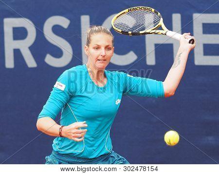 Nuremberg, Germany - May 22, 2019: Czech Tennis Player Kristyna Pliskova At The Euro 250.000 Wta Ver