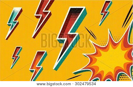 Flash Sale Banner Template Design.vector Illustration. Retro Comic Design Speech Bubble. Flash Explo