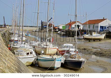 Port of Noirmoutier en l'Ile in France