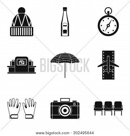 Slackness Icons Set. Simple Set Of 9 Slackness Icons For Web Isolated On White Background