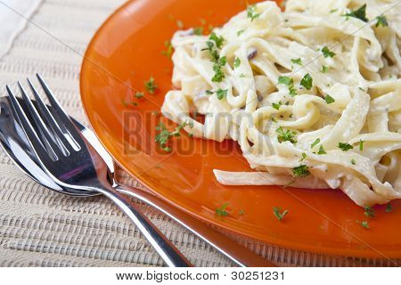 Fettucine With Parmesan And Parsley