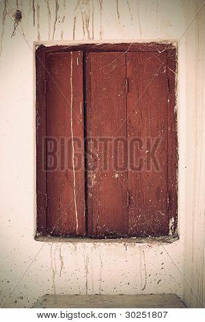 Vintage, Old Brown Window