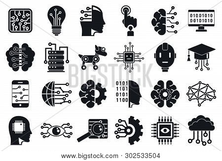 Artificial Intelligence Icons Set. Simple Set Of Artificial Intelligence Vector Icons For Web Design