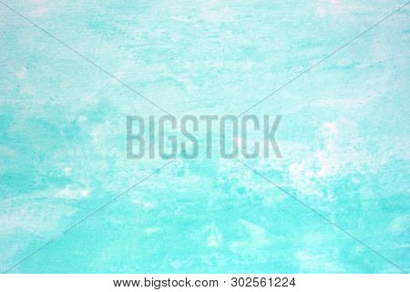 Watercolor Background, Art Abstract Blue Watercolor Painting Textured Design On White Paper Backgrou