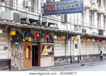 Bangkok, Thailand - March 19th 2015: Cleopatra, Massage Parlour, Chinatown. The Area Is The Oldest P
