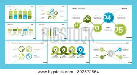 Set Of Planning Or Startup Concept Infographic Charts. Business Diagrams For Presentation Slide Temp