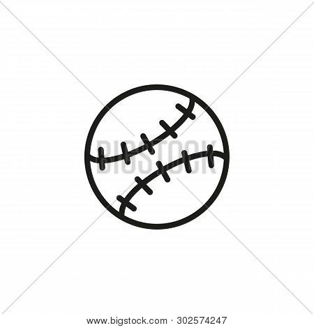 Ball Line Icon. Seam, Baseball, Softball. Sport Concept. Vector Illustration Can Be Used For Topics