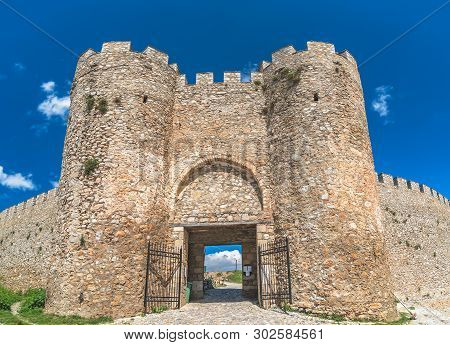 Entrance Gates To The Castle Samuil, Located Above Ohrid Lake, Republic Of Macedonia