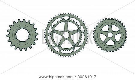 Vector Bike Gears