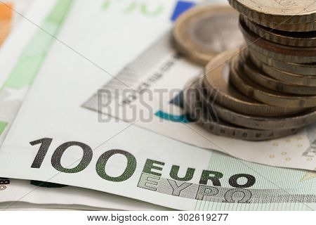 Euro Money. Euro Cash And Coins . Euro Money Banknotes
