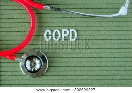 Copd, Chronic Obstructive Pulmonary Disease - Text From White Letters On A Green Background With A S