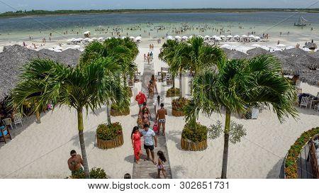 Beach Resort At Jericoacoara On Brazil