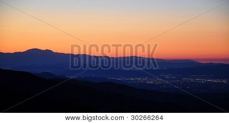 Sunset over Hemet