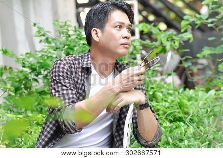 Unaware Man Or A Man In The Garden