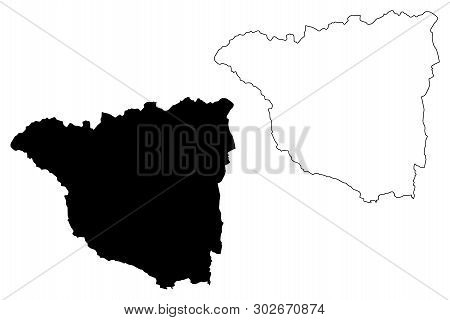 Gorj County (administrative Divisions Of Romania, Sud-vest Oltenia Development Region) Map Vector Il