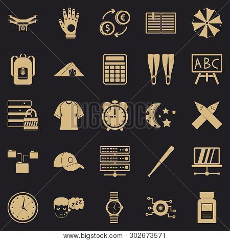 Evening Classes Icons Set. Simple Set Of 25 Evening Classes Vector Icons For Web For Any Design
