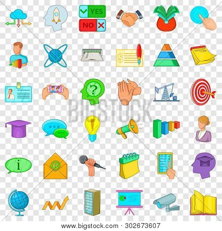 Congress Icons Set. Cartoon Style Of 36 Congress Vector Icons For Web For Any Design