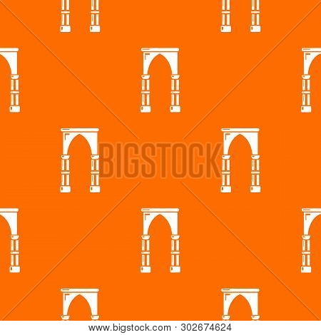 Archway Construction Pattern Vector Orange For Any Web Design Best