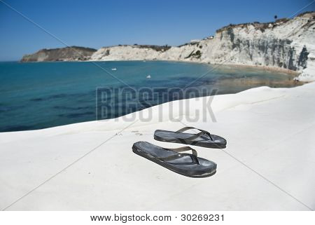 Stair Of The Turkish. Flip-flops