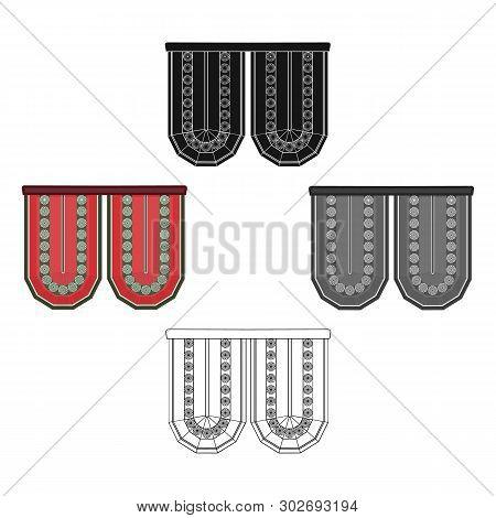 Cornice Single Icon In Cartoon, Black Style.cornice, Vector Symbol Stock Illustration Web.