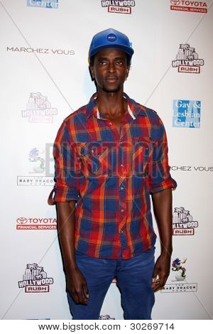 LOS ANGELES - FEB 19:  Edi Gathegi arrives at the 2nd Annual Hollywood Rush at the Wilshire Ebell on February 19, 2012 in Los Angeles, CA.