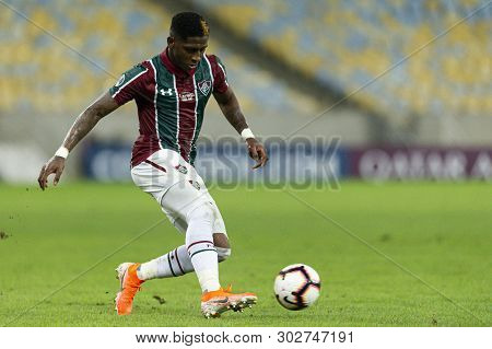 Rio, Brazil - May 23, 2019: Yony Gonzalez Player In Match Between Fluminense (bra) And Atletico Naci