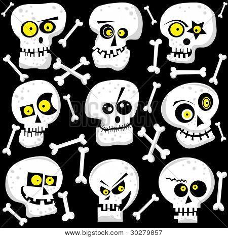 Cute Skull Faces