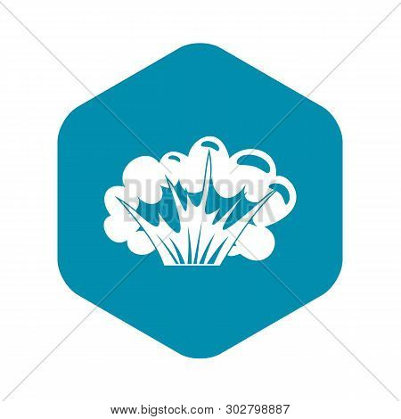 High Powered Explosion Icon. Simple Illustration Of High Powered Explosion Vector Icon For Web