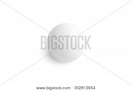 Blank White Stress Ball Mockup Top View, Isolated, 3d Rendering. Clear Soft Antistress Sphere Mock U