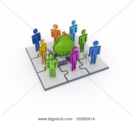 Business network concept.