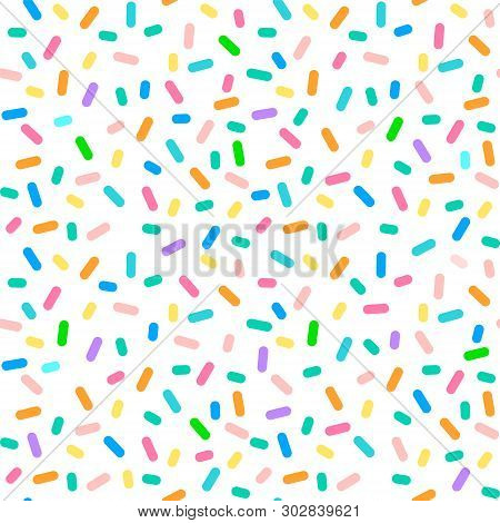 Bright Colorful Seamless Pattern Of Rounded Sticks In Vector. Seamless.