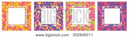 Modern Abstract Colourful Cards Set. Vintage Colors And Organic Shapes Concept - Best For Shopping T