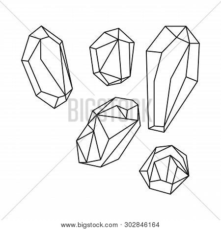 Isolated Object Of Granules And Salty Symbol. Set Of Granules And Grains  Stock Vector Illustration.